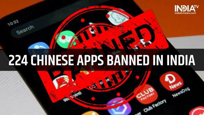 224 Chinese apps banned in India full list | India News – India TV