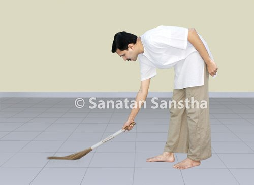 Achars (General conduct)associated with sweeping - Sanatan Sanstha