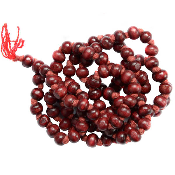 Sandalwood Mala, Lal Chandan ki Mala Benefits and Prices, Remedies of being concentration - Astrovidhi.com